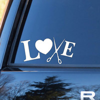 Love Stylist Decal | Stylist Stickers | Hairdresser Decal | Love Sticker | Love Decal  | Car Decal | Car Stickers | Bumper | 027