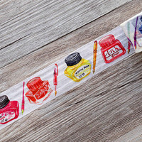 Ink washi tape,Colorful Ink washi tape,Pen and Ink Washi Tape