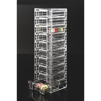 US Acrylic Clear Organizer Tower with 10 Removable Drawers