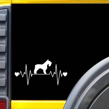 Miniature Schnauzer Lifeline Decal Sticker *I247*