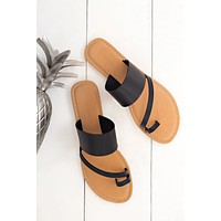 Life's A Beach Strappy Sandal (Black)