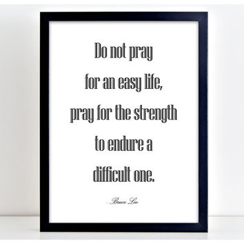 Do Not Pray print Motivational Poster Word Art Print Kitchen Quote Motivation Famous Wall Sign Letters Home Decor  PP38