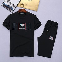 Boys & Men Emporio Armani Shirt Top Tee Shorts Set Two-Piece