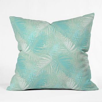 Aimee St Hill Pale Palm Throw Pillow