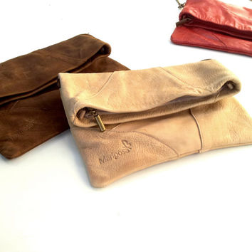 leather clutch, rustic purse, women leather wallet, leather bag
