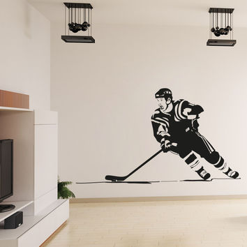 Vinyl Wall Decal Sticker Hockey Player #OS_AA724