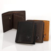 Zippers Bags Handcrafts Leather Men Big Capacity Wallet [9026285059]