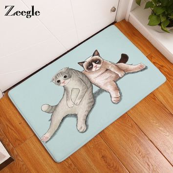 Autumn Fall welcome door mat doormat Zeegle Entrance Mats Cute Cat Printed Funny s Anti-slip Bathroom Bath Mats Baby Play Mats Foot Pads Beside Rugs AT_76_7