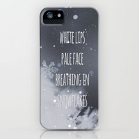 Snowflakes iPhone Case by SUNLIGHT STUDIOS | Society6 for iPhone 5 + 4 S + 4 + 3 GS + 3 G + skins + pillow
