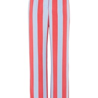 Candy Stripe Wide Leg Trousers