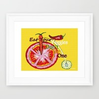 Don't Be A Vegetable Framed Art Print by Kathleen Sartoris