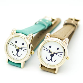 Cat strap watch (5 colors)