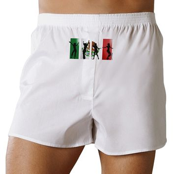 Mexican Flag - Dancing Silhouettes Front Print Boxers Shorts by TooLoud
