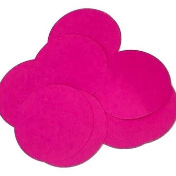 "Neon pink 2"" circle card stock paper confetti"
