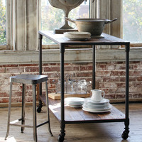 Reclaimed Elm Kitchen Island - Traditional - Kitchen Islands And Kitchen Carts - atlanta - by Iron Accents