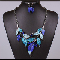 crystal chain jewelry sets