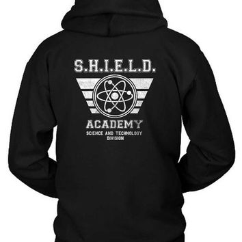 ESBH9S Marvel Shield Academy Science And Tech Hoodie Two Sided