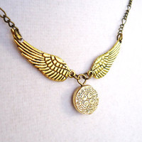 Harry Potter Ornate Golden Snitch Necklace