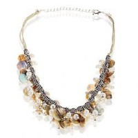 TX-1552N Fashionable Seashells and Faux Pearls Necklace Neck Chain Neck Ornament for Female Woman