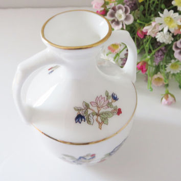 Royal Tara vintage vase, Butterflies and flowers, Irish vase