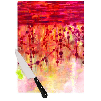 "Ebi Emporium ""Prismacolor Pearls"" Pink Orange Cutting Board"