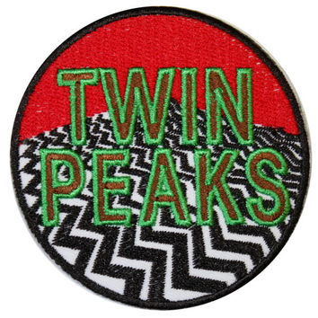 Twin Peaks Iron On Patch Embroidery Sewing DIY Customise Denim Cotton Agent Cooper Coffee Black Lodge '80s Retro Vintage