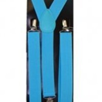 Outer Rebel Fashion Suspenders- Turquoise