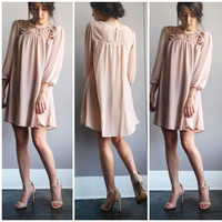 A Cutout Lady Dress in Blush