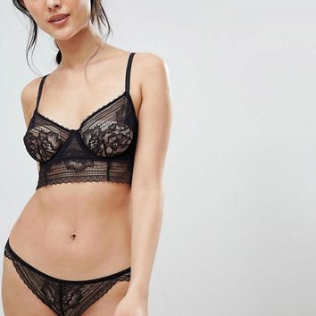Free People Sorento Longline Bralette & Brief Lingerie Set at asos.com