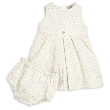 Armani Baby Girls Fancy Light Dress with Bloomers