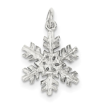 Sterling Silver Snowflake Pendant QC844