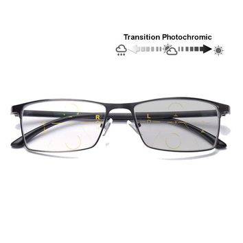 Transition Progressive Reading Glasses Photochromic Sunglasses 0 to +300 Anti-UV