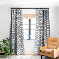 Heather Dutton Starbust Grey Blackout Window Curtain