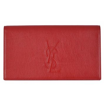 Saint Laurent YSL Belle De Jour Red Leather Clutch Bag 361120