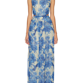 Nicole Miller Women's Queen of The Night Floral Gown -