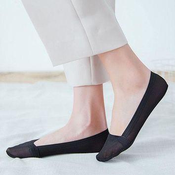 Women Summer Breathable Invisible Boat Socks