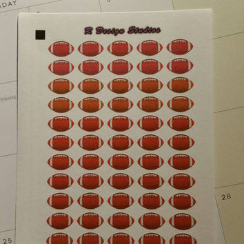 Football planning  Planner / Calendar stickers for your Erin Condren, Inkwell Press, Plum Paper, Happy Planner, Filofax