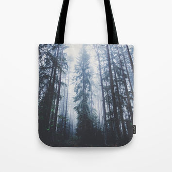 The mighty pines Tote Bag by happymelvin