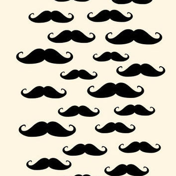 Mustache Clouds 8x10 Art Print by MursBlanc on Etsy