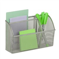 Honey-Can-Do OFC-03304 Magnetic Desk Organizer, Silver