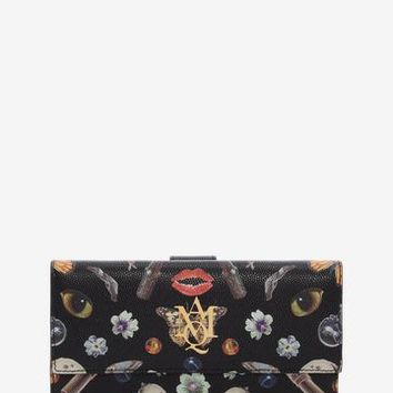 Obsession Print Continental Zip Wallet | Alexander McQueen