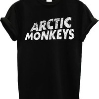 Arctic Monkeys Alex Turner Logo Band T shirt Top T-Shirt: Amazon.de: Bekleidung