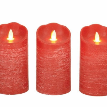 Benzara Lovely Set of 3 54887 Flameless Candle with Remote