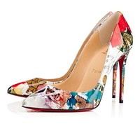 christian:louboutin Brand New Womens Kate Trashprint Heeled Sandals