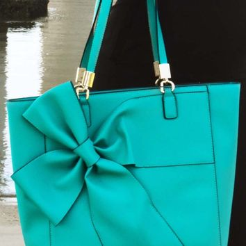 Bow Down To Bows Purse: Teal