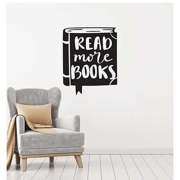 Vinyl Wall Decal Reading Room Corner Library Saying Book Shop Interior Stickers Mural (ig5756)