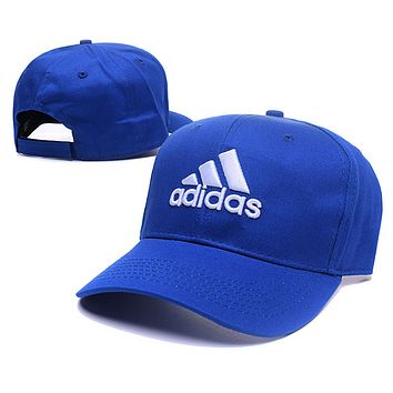 Blue Adidas Embroidered Baseball Cap Outdoor Hat