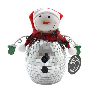 Christmas MIRRORED SNOWMAN Glass Department 56 6002553
