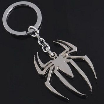 10pcs chaveiro!creative Marvel Hero Keychain The Avengers The Amazing Spider-Man Keychains keyfobs Spider Man Peter Parker gift