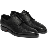 George Cleverley - Henry Textured-Leather Brogues | MR PORTER